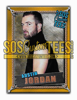 Austin Jordan Memorabilia Trading Card - Gold