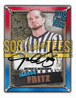 Jarrod Fritz Autographed Memorabilia Trading Card - USA