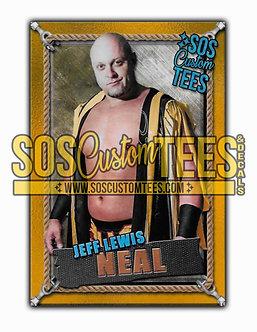 Jeff Lewis Neal Memorabilia Trading Card - Gold