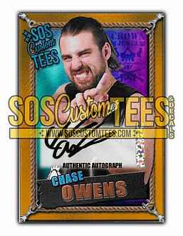 Chase Owens Autographed Memorabilia Trading Card - Violet
