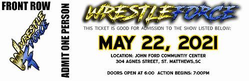 WrestleForce St. Matthews - FRONT ROW