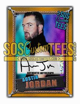 Austin Jordan Autographed Memorabilia Trading Card - Violet