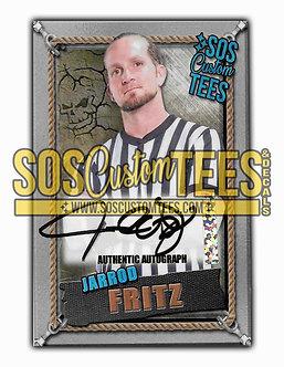 Jarrod Fritz Autographed Memorabilia Trading Card - Silver