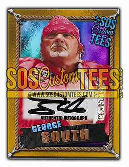 George South Autographed Memorabilia Trading Card - Violet