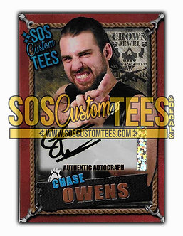 Chase Owens Autographed Memorabilia Trading Cards - Bronze