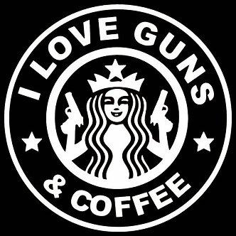 Guns & Coffee Decal