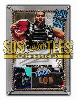 Tanga Loa Autographed Memorabilia Trading Card - Sliver