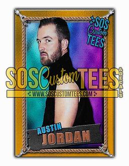 Austin Jordan Memorabilia Trading Card - Violet