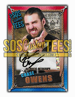 Chase Owens Autographed Memorabilia Trading Card - USA