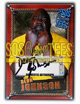 Deon Johnson Autograph Memorabilia Trading Card - Bronze