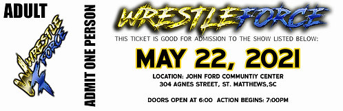 WrestleForce St. Matthews - GENERAL ADMISSION
