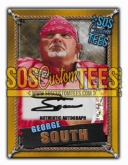 George South Autographed Memorabilia Trading Card - Gold