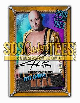 Jeff Lewis Neal Autographed Memorabilia Trading Card - Violet