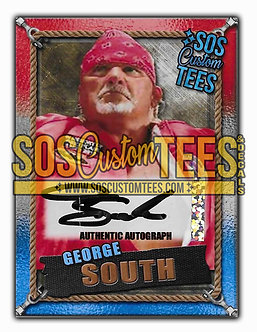 George South Autographed Memorabilia Trading Card - USA