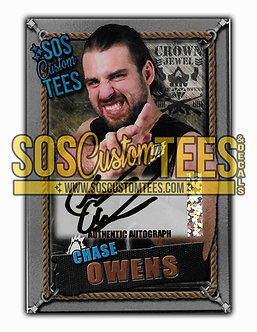 Chase Owens Autographed Memorabilia Trading Card - Silver