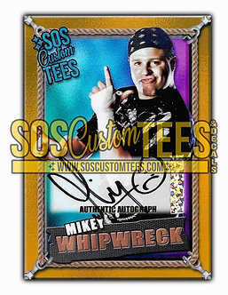 Mikey Whipwreck Autographed Memorabilia Trading Card - Violet