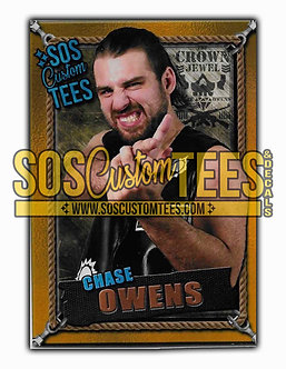 Chase Owens Memorabilia Trading Card - Gold