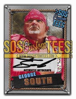 George South Autographed Memorabilia Trading Card - Silver