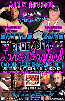 BZW: Battle Zone Remembers Lance Gaylord 2016