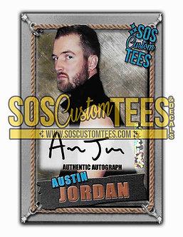 Austin Jordan Autographed Memorabilia Trading Card - Silver