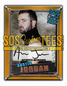 Austin Jordan Autographed Memorabilia Trading Card - Gold