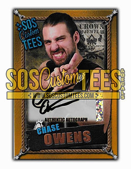 Chase Owens Autographed Memorabilia Trading Card - Gold