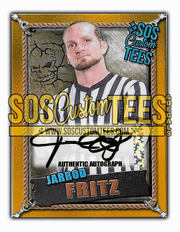 Jarrod Fritz Autographed Memorabilia Trading Card - Gold