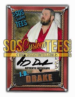 James D. Drake Autographed Memorabilia Trading Card - Bronze