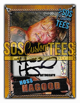 Hoss Hagood Autographed Trading Card - Gold
