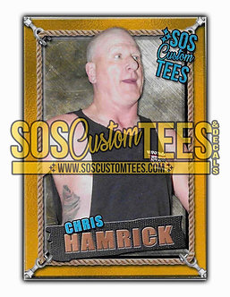 Chris Hamrick Memorabilia Trading Card - Gold