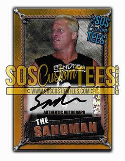 Sandman Autographed Memorabilia Trading Card - Gold