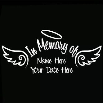 In Memory Decal