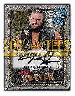 John Skyler Autographed Memorabilia Trading Card - Silver