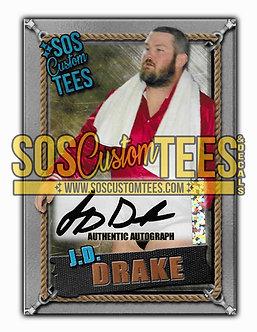 James D. Drake Autographed Memorabilia Trading Card - Silver