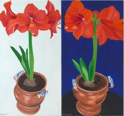Amaryllis I & II by Janet Alling
