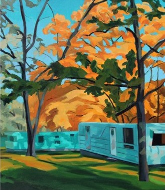 Trailers in Autumn by Deborah Clearman
