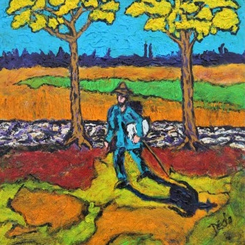 The Painter on His Way to Work by Bill C