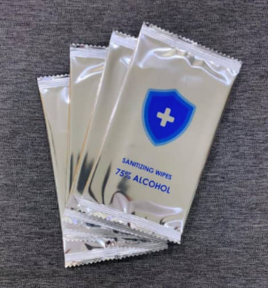 Single Pack Alcohol Wipes 75% 50pkts