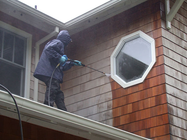 Long Island Homeowner Services house exterior cleaning and powerwash.