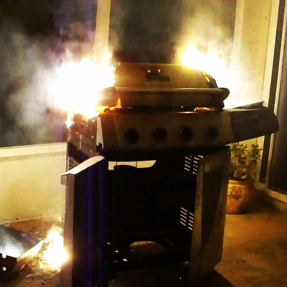 70% of outdoor grill fires occur between May and September in the U.S.