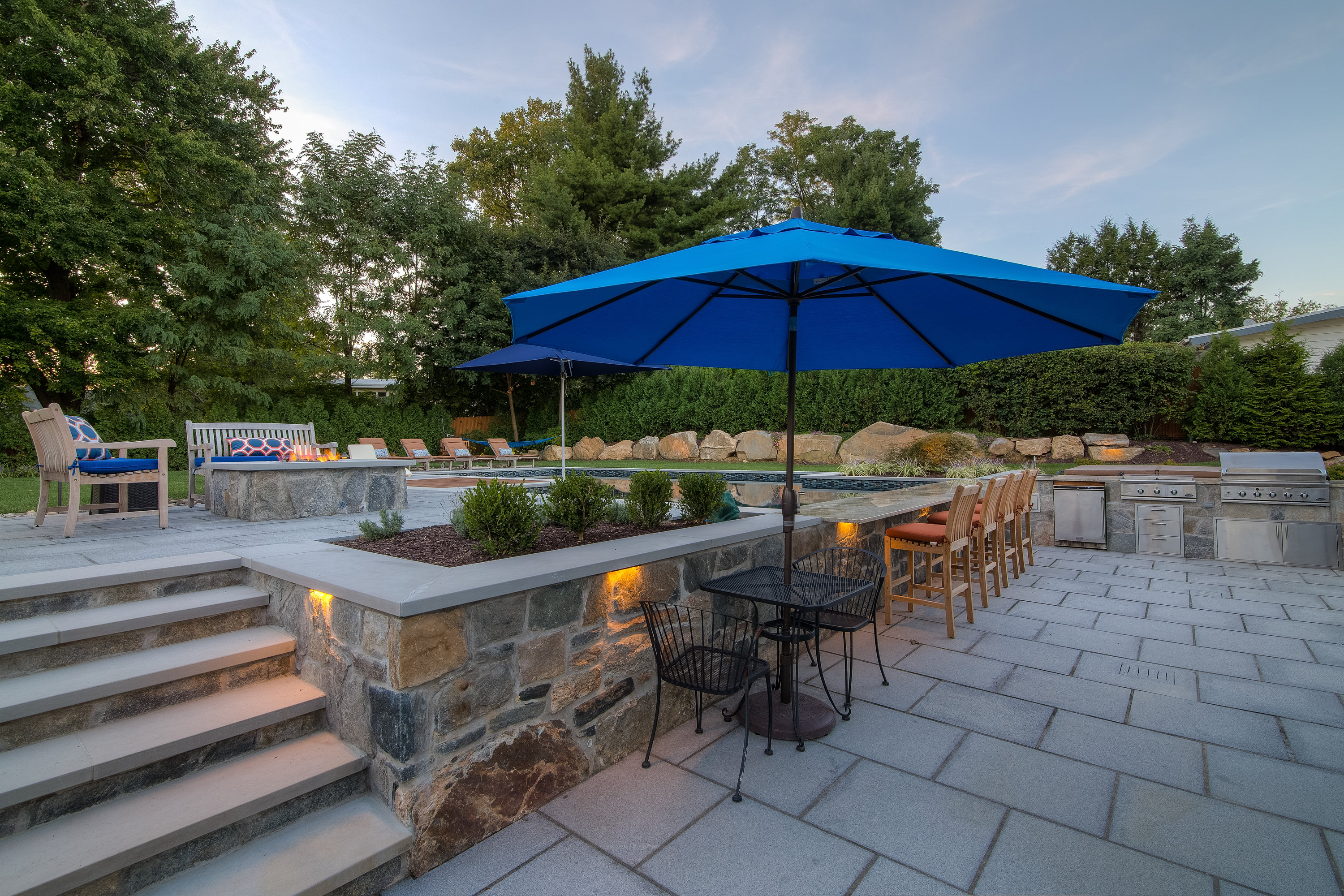 Firepit | Pool Bar | Patio | Long Island | Long Island Homeowner Services |  Outdoor