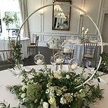 Gold Hoop Wedding Stand