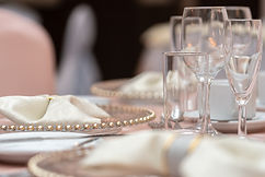 Finsh off the look of your Table with Stunnng Charger Plats, Colour coded Nakin and Napki Rings, Beautiful Table Linen in Varius Materials including - Sequined Table Cloths, Taffeta Table Cloths, Lace Overlays, Mirror Plates, Log Slices, Tea Lights and Tea Light Holders. Assorted Table Runner in Various Materials. Perfect Wedding ecoration and Styling