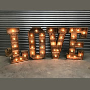 4ft LED Rustic 'LOVE' Letters - Warm Whi