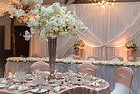 Metal Vase Wedding Centrepiece