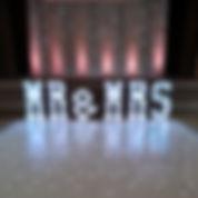 4ft LED 'MR & MRS' Letters - Colour Chan