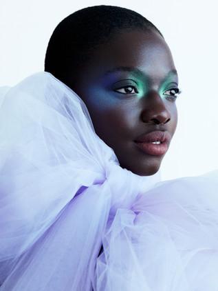 @soukeyna by @michellemoniquephoto for @facticemagazine   Stylist @sarahk_stylist Makeup @tamielsombati using @maccosmetics Retoucher @lucaszalmas Dress by @nicolefeliciacouture