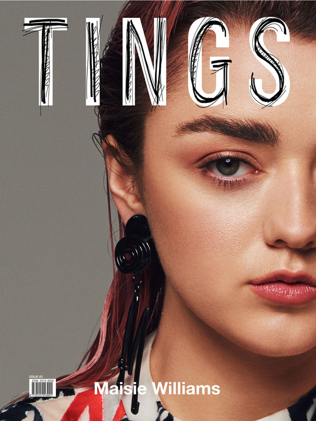 Digital cover for TINGS Issue 3 with Maisie Williams