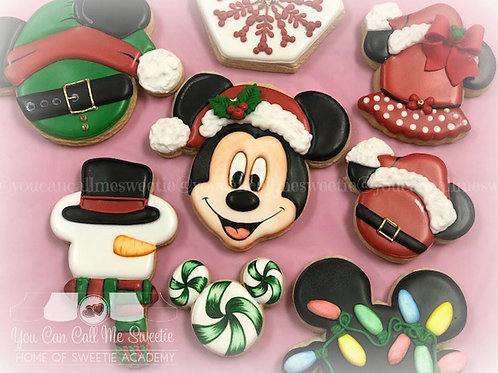 Mickey Christmas Sugar Cookie Platters-12 count