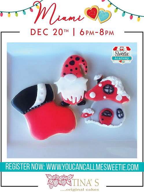 Cheers Sweeties Christmas Class: Miami, FL- December 20th 6pm-8pm
